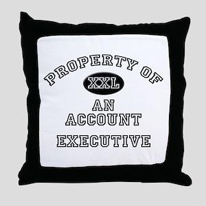 Property of an Account Executive Throw Pillow