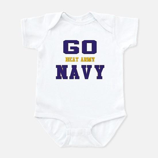 Go Navy, Beat Army! Infant Bodysuit