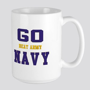 Go Navy, Beat Army! Large Mug Mugs