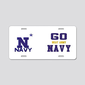Go Navy, Beat Army! Aluminum License Plate