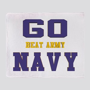 Go Navy, Beat Army! Throw Blanket