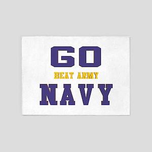 Go Navy, Beat Army! 5'x7'Area Rug