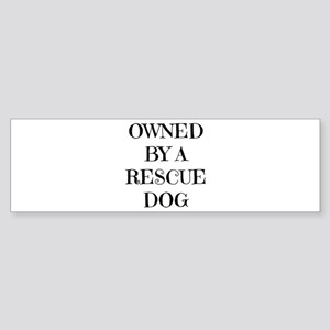 Owned by a Rescue Dog Bumper Sticker