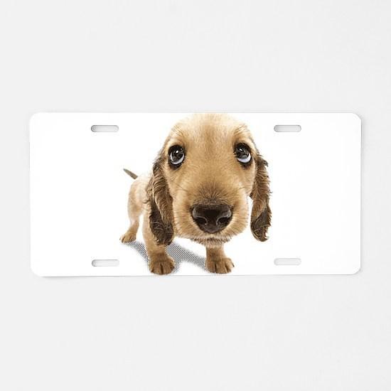 Puppy dog Aluminum License Plate