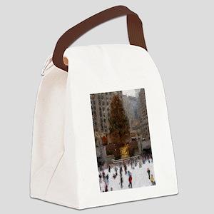 rockefellertreeimp Canvas Lunch Bag