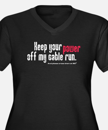 Keep your power off my cable Women's Plus Size V-