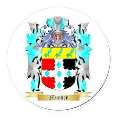 Mundey Round Car Magnet