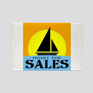 """Hoist The Sales"" Rectangle Magnet"