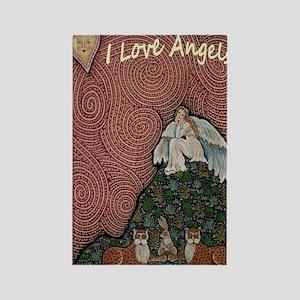 I LOVE ANGELS Rectangle Magnet