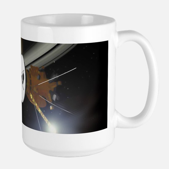 Saturn and the Cassini Probe Mugs