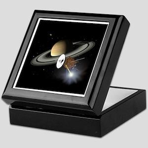 Saturn and the Cassini Probe Keepsake Box