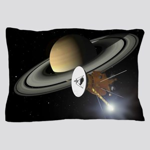 Saturn and the Cassini Probe Pillow Case