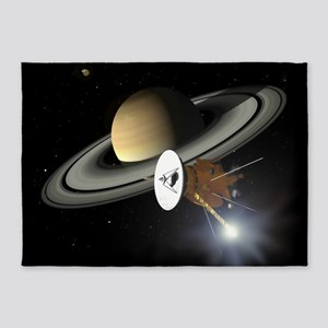 Saturn and the Cassini Probe 5'x7'Area Rug