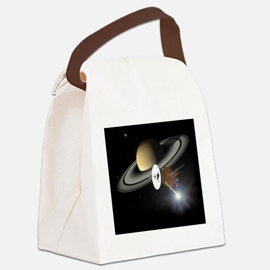 Saturn and the Cassini Probe Canvas Lunch Bag