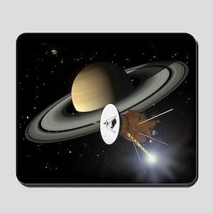 Saturn and the Cassini Probe Mousepad