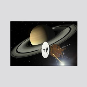 Saturn and the Cassini Probe Magnets