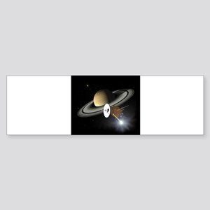 Saturn and the Cassini Probe Bumper Sticker