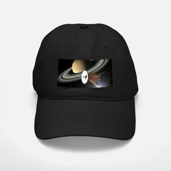Saturn and the Cassini Probe Baseball Hat