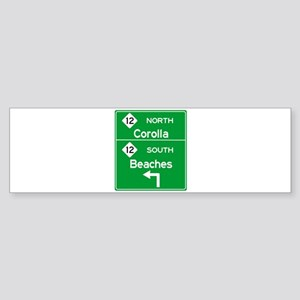 Outer Banks Route 12 Sign Bumper Sticker