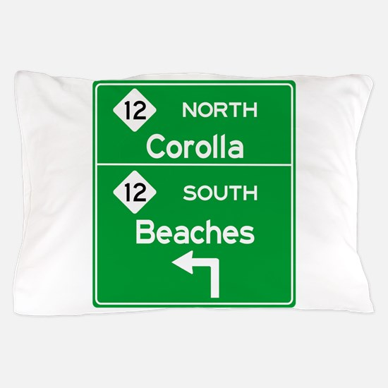 Outer Banks Route 12 Sign Pillow Case