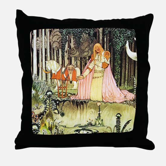 Kay Nielsen - East of the Sun, West Throw Pillow