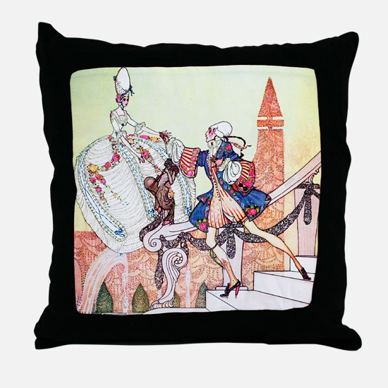 Kay Nielsen - Prince Charming and Cin Throw Pillow