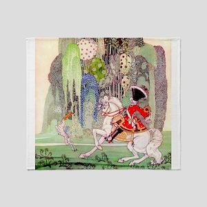 Kay Nielsen - Sleeping Beauty Prince Throw Blanket