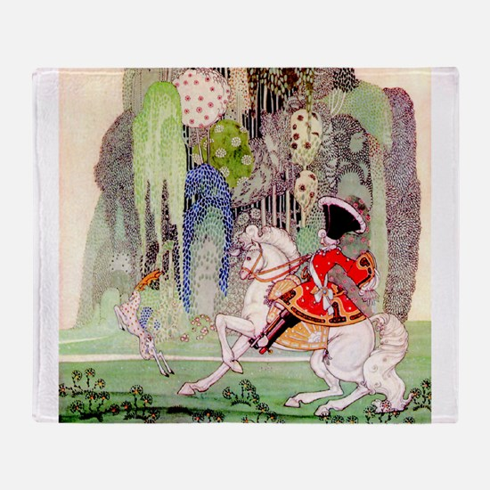 Kay Nielsen - Sleeping Beauty Prince Throw Blanket