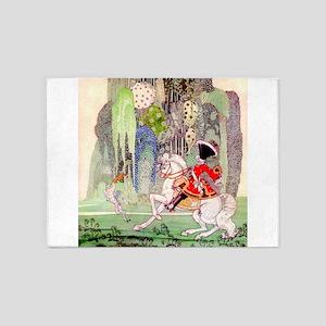 Kay Nielsen - Sleeping Beauty Princ 5'x7'Area Rug