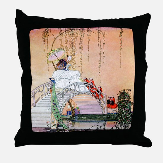 Kay Nielsen - Moon Bridge in the Chin Throw Pillow
