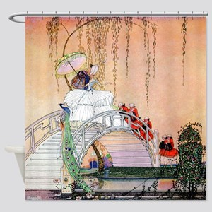 Kay Nielsen - Moon Bridge in the Ch Shower Curtain