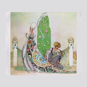Kay Nielsen - Princess and the Garde Throw Blanket