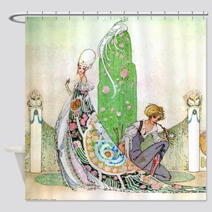 Kay Nielsen - Princess and the Gard Shower Curtain