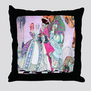 Kay Nielsen - Prince Charming and Fem Throw Pillow
