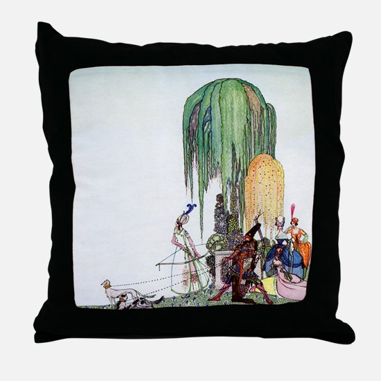 Kay Nielsen - Royalty at the Hunt Throw Pillow