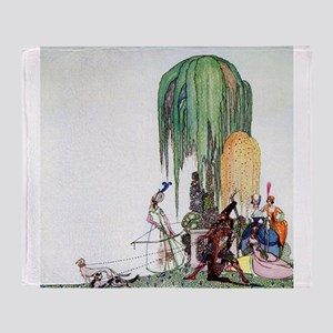 Kay Nielsen - Royalty at the Hunt Throw Blanket