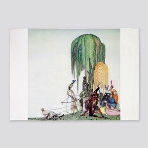 Kay Nielsen - Royalty at the Hunt 5'x7'Area Rug