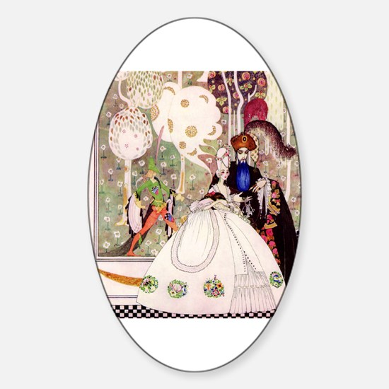 Kay Nielsen -Bluebeard and his Brid Sticker (Oval)