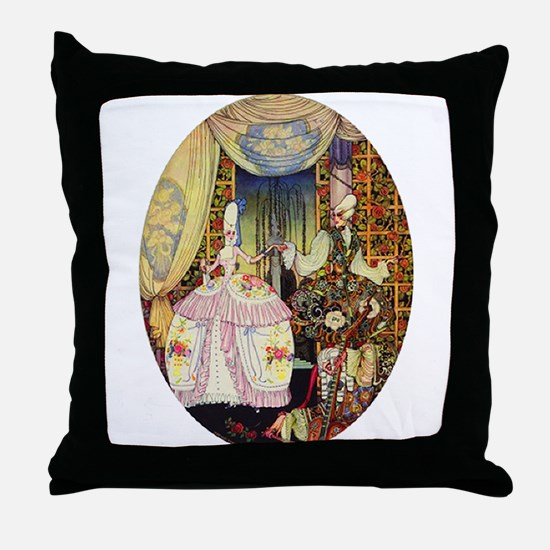 Kay Nielsen - French Lord and Lady Throw Pillow