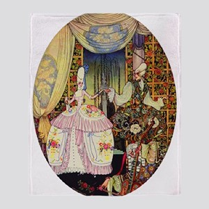 Kay Nielsen - French Lord and Lady Throw Blanket