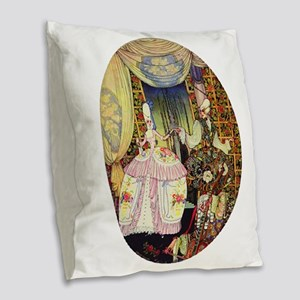 Kay Nielsen - French Lord and Burlap Throw Pillow