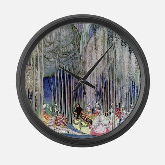 Kay Nielsen - Twelve Dancing Prin Large Wall Clock