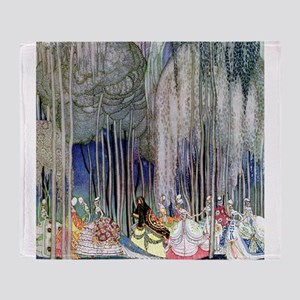 Kay Nielsen - Twelve Dancing Princes Throw Blanket