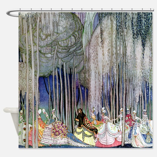 Kay Nielsen - Twelve Dancing Prince Shower Curtain