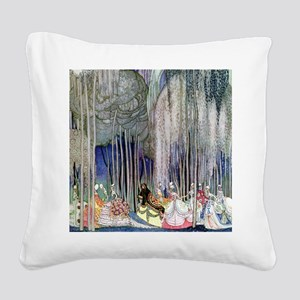 Kay Nielsen - Twelve Dancing Square Canvas Pillow
