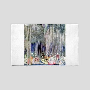 Kay Nielsen - Twelve Dancing Princesses Area Rug