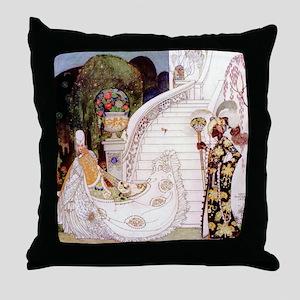 Kay Nielsen - Cinderella Runs Down th Throw Pillow