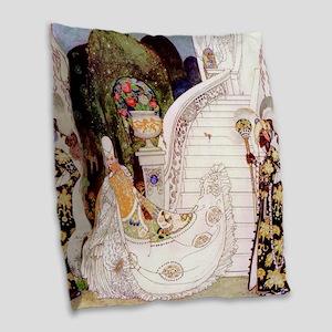 Kay Nielsen - Cinderella Runs Burlap Throw Pillow