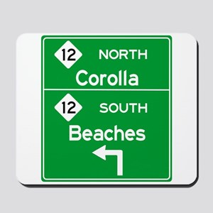 Outer Banks Route 12 Sign Mousepad