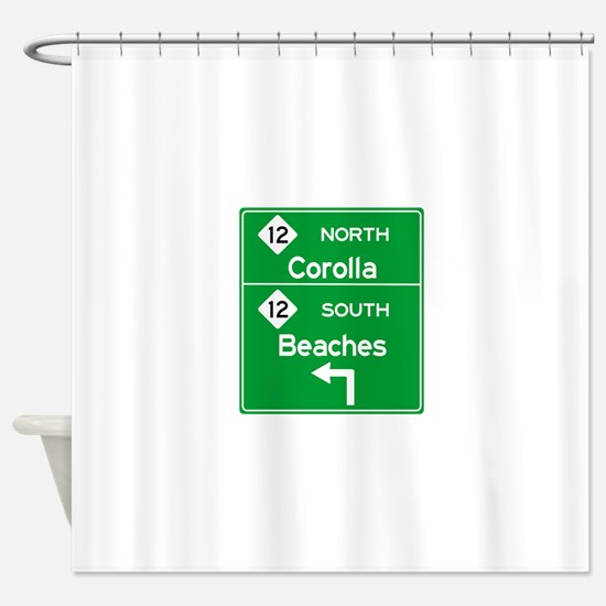 Outer Banks Route 12 Sign Shower Curtain